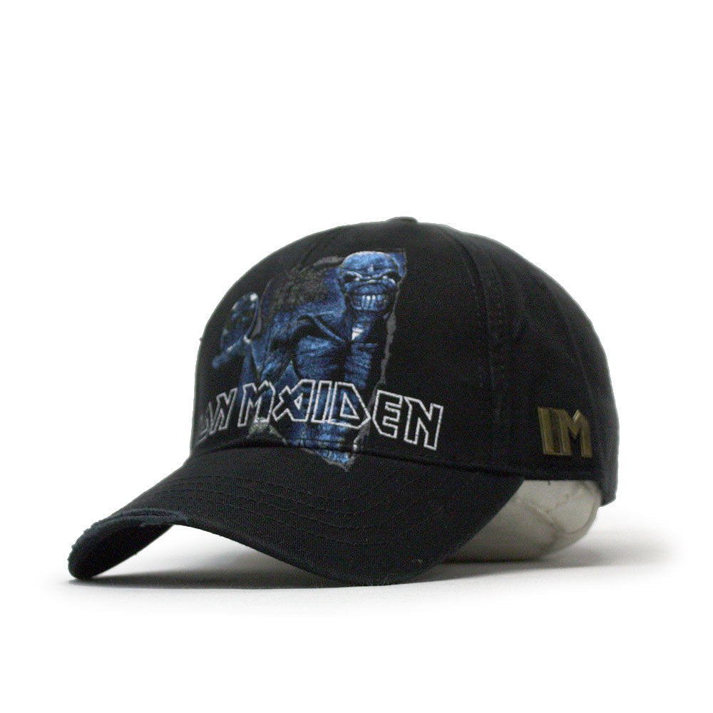 Iron Maiden Different World Distressed Velcro Adjustable Baseball Cap - Ooh  La La Factory 413d67fb5ee