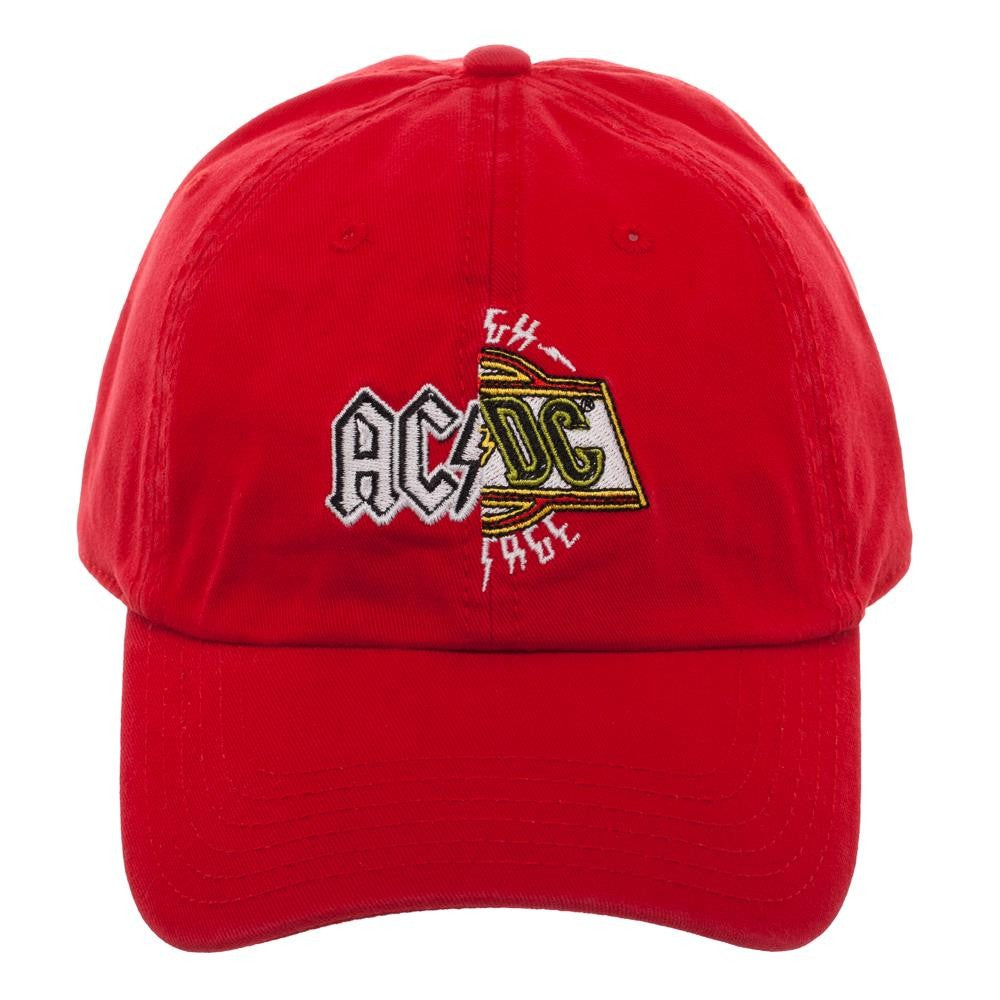 40da3be3a4d AC DC Split Logo Dad Hat Baseball Cap
