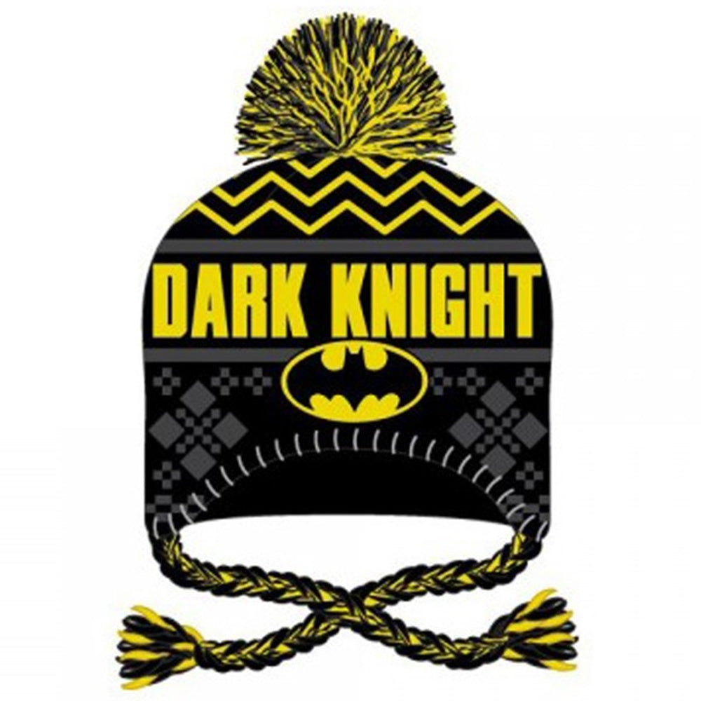 148f087945c DC Comics Batman Dark Knight Novelty Knit Pom Laplander Beanie - Ooh La La  Factory
