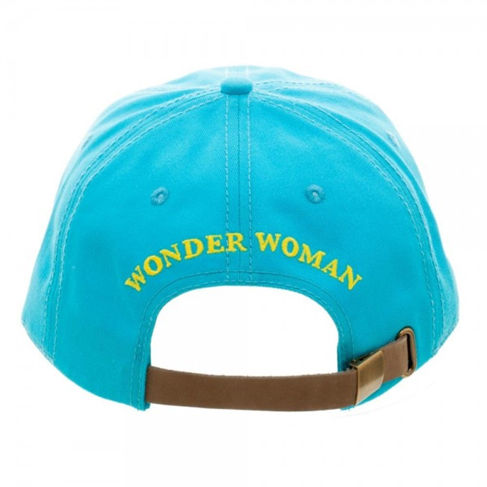 Dc Comics Wonder Woman Embroidered Baseball Dad Hat Ooh