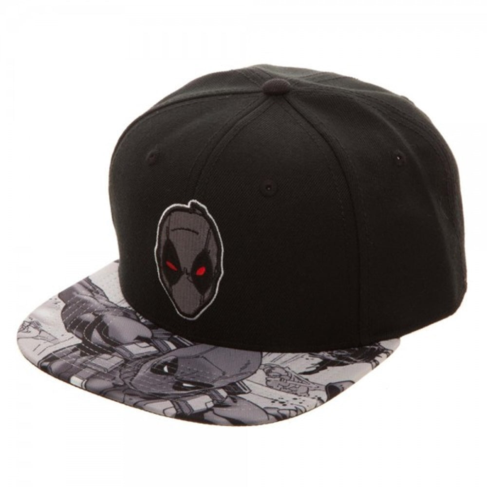 Marvel Comics Washed Unstructured 6 Panel Snapback