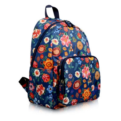 French Artist Nathalie Lete Petit Backpack Floral Mint