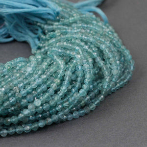 5 Strands Excellent Quality Apatite Faceted Rondelles - Apatite Roundles Beads 3mm-4mm 13.5 Inches RB372