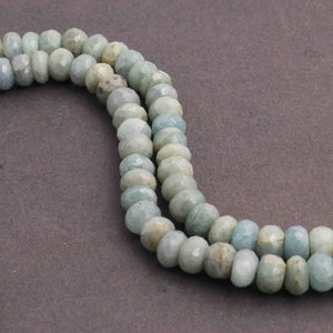 1 Long Strand Amazonite Faceted Briolettes 9mm  15 Inches BR715 - Tucson Beads