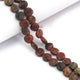 1 Strand Unakite  Faceted Briolettes -Coin Shape  Briolettes - 8mmx8mm -8.5 Inches BR3718 - Tucson Beads