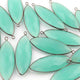 9 Pcs Aqua Chalcedony Faceted Oxidized Sterling Silver Marquise Connector/Pendant 39mmx13mm-41mmx13mm SS859 - Tucson Beads