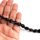 1 Strand Black Onyx  Faceted Briolettes -Oval Shape  Briolettes 12mmx9mm-8 Inches BR2909 - Tucson Beads