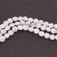 1  Strand White Moonstone Smooth   Briolettes -Coin Shape  Briolettes  7mm-8mm-8 Inches BR815 - Tucson Beads