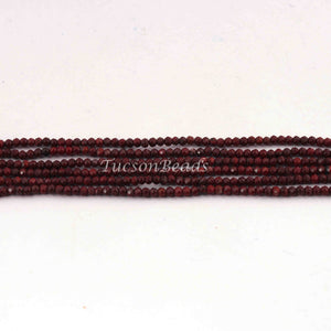 6 Strands Brown Tiger Eye Rondelle, Faceted roundelle Beads,Brown Tiger Eye Gemstone beads, jewelry making supplies 2mm 13 inch Long RB186 - Tucson Beads