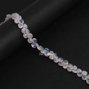 1 Strand White  Labradorite Faceted Briolettes - Heart Shape Briolettes 5mmx5mm-7mmx7mm -8 Inches BR2947 - Tucson Beads