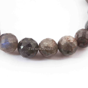 1 Strands Labradorite Faceted Round Balls Beads - Labradorite Ball Beads 11mm 7 Inch BR4129 - Tucson Beads