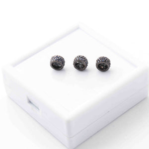 1 Pc Three Step Blue Sapphire 925 Sterling Silver Rondelles Beads - 7mm PDC261 - Tucson Beads