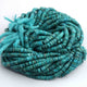 1 Full Strand Natural Arizona Turquoise Smooth  Heishi wheel  Rondelles Beads - Arizona Turquois Rondelles 5mm 13 Inch  BR1660 - Tucson Beads