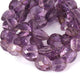 1 Strand Amethyst Faceted Briolettes  -Oval Shape  Briolettes  19mmx17mm-12mmx10mm-8 Inches BR1355 - Tucson Beads