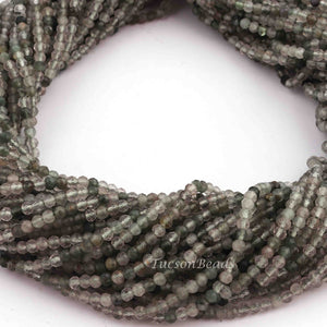 5 Long Strands Ex+++ Quality Green Rutile Faceted Rondelles  - Roundel Beads 2mm 13 Inch RB217 - Tucson Beads