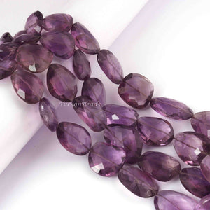 1 Strand Amethyst Faceted Fancy Briolette- Amethyst Fancy Beads 20mmx16mm-31mmx23mm 16 inch BR1250 - Tucson Beads