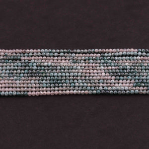 6 Strands Shaded Green Silverite Faceted Rondelles- Finest Quality Rondelles Beads 2mm 13.5 inch strand RB210 - Tucson Beads