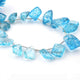 1 Long Strand Blue Crystal Faceted Briolettes - Fancy Shape  Briolettes 11mmx10mm-29mmx17mm - 9 Inches BR0271 - Tucson Beads
