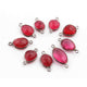 5 Pcs Ruby & Garnet  Faceted Oxidized Sterling Silver Fancy Shape Connector Double Bali 18mmx9mm &24mmx11mm- SS1057 - Tucson Beads