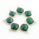 5 Pcs Green Onyx Faceted 925 Sterling Vermeil Cushion Shape Pendant Single Bali  13mmx10mm  & 15mmx12mm- SS1037 - Tucson Beads