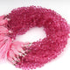 1 Strand Pink Topaz  Faceted Briolettes -Tear Shape  Briolettes -4mmx5mm 9 Inches BR1738 - Tucson Beads