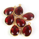 7 Pcs Beautiful Garnet 925 Sterling Vermeil Gemstone Faceted Pear Shape Single Bail Pendant -18mmx11mm SS133 - Tucson Beads