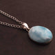 1 Pc Genuine and Rare Larimar Oval shape Pendant - 925 Sterling Silver - Gemstone Pendant 37mm-20mm SJ040