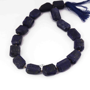 1  Strand Lapis Lazuli Faceted Nuggets Beads- Faceted Nuggets -17mmx10mm 16 Inch.BR1917 - Tucson Beads