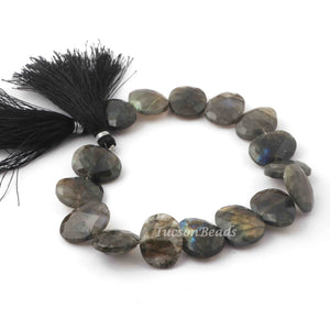 1 Strand Labradorite Faceted Oval Briolettes - Oval Briolettes 11 Inches 11mmx13mm-14mmx17mm BR2791 - Tucson Beads