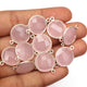5 Pcs Rose Quartz 925 Sterling Silver Faceted Round Shape Connector Double Bail connector 21mm-15mm SS320 - Tucson Beads