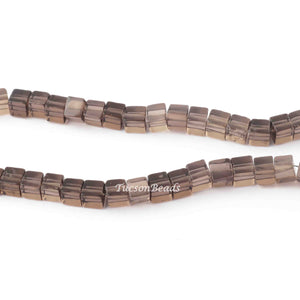 1 Strand  Smoky Quartz Smooth Cube Briolettes - Plain Box Shape Briolettes 6mm-7mm 8.5 Inches BR2790 - Tucson Beads