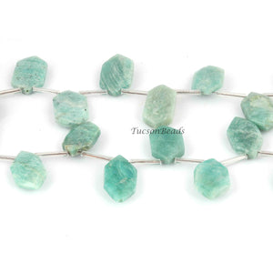 1  Strand Amazonite Faceted Fancy Shape Briolettes  - Faceted Briolettes - 19mmx10mm-26mmx14mm 8 Inches BR1804 - Tucson Beads