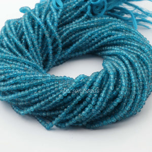 5 Strands Neon Apatite Faceted Rondelles , Loose Spacer Beads 3mm 13.5 inche RB320 - Tucson Beads