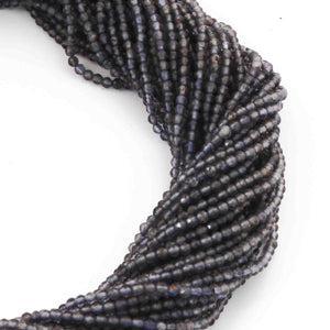 5 Strands Iolite Faceted Rondelles - Iolite Gemstone Roundels 2mm 13 Inch Strand RB005 - Tucson Beads