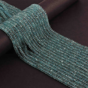 1 Strand Aquamarine Faceted Finest Quality  Rondelle Beads 4mm-5mm 13 inches BR1729 - Tucson Beads