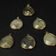 5 Pcs Golden Rutile 24k Gold Plated Faceted Heart & Pear Shape Pendant- 28mmx19mm-28mmx23mm PC525 - Tucson Beads