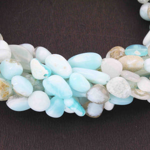 1 Strands Peru Opal Smooth Nuggets Briolettes -Nuggets Briolettes 8mmx7mm-25mmx7mm 12.5 Inches BR1045 - Tucson Beads
