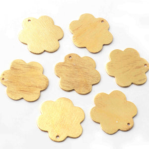 10 PCS Gold Plated Designer Clover,Flower Charms, Golden Stamp , Jewelry Making Supplies 21mm BulkLot GPC1063