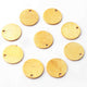 50 Pcs Gold Round Charm 24k Gold Plated On Copper - Gold mat finish charm 10mm GPC962 - Tucson Beads