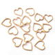 10 PCS 24k Gold Plated Copper Heart Charms, Copper Charm, Casting Heart Rings, Jewelry Making Tools, 15mmx14mm GPC1064 - Tucson Beads