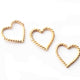10 PCS 24k Gold Plated Copper Heart Charms, Copper Charm, Casting Heart Rings, Jewelry Making Tools, 15mmx14mm GPC1064
