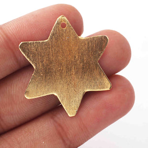 10 PCS  Designer Copper Star Charms Beads in 24k Gold Plated Great For Pendant ,Jewelry Making BulkLot 31mmx21mm GPC1061