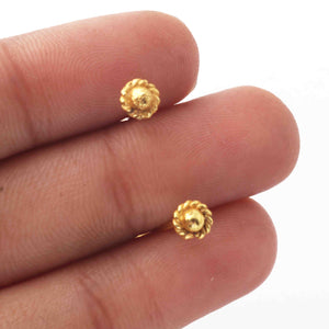 25 PCS Gold Head Pin ,Gold stike, Round Flower Shape Head Pin, Copper Pin,Gold Plated Copper Head Pin 80mmx5mm GPC1068 - Tucson Beads