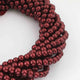 1 Long Strand  Burgundy Rubies Faceted Wine Red Natural Stone Round Balls beads - Gemstone ball Beads 6mm 16 Inches BR980 - Tucson Beads