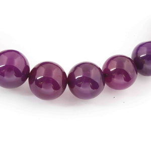 1 Strand Purple Chalcedony Smooth ball Rondelles - ball Beads 11mm-16mm 8 Inches BR978 - Tucson Beads