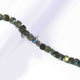 1 Strand Labradorite Faceted Cube Beads Briolettes -  Labradorite Box Shape Beads 7mm  10 Inches BR3130 - Tucson Beads