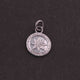 1 Pc Pave Diamond Round With Star Pendant Charm 925 Sterling Silver Pendant 18mmx14mm SJPD003 - Tucson Beads