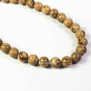 1 Long Strand Jasper  Smooth Rondelles - Roundel ball Beads 12mm 15.5 Inches BR1746 - Tucson Beads