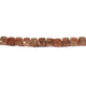 1 Strand Brown Rutile Faceted Briolettes -Cube Shape  Briolettes  7mm-8 Inches BR1793 - Tucson Beads