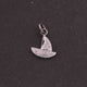 1 PC Pave Diamond Boat  Shape Charm 925 Sterling Silver Pendant, 17mmx6mm SJPDC028 - Tucson Beads